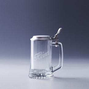 Bierkrug Sternboden mit Deckel 0,25 l