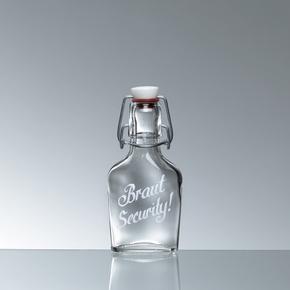 Bügelflasche Schnapsflasche 10cl