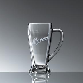 Weizenbierglas mit Henkel