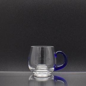 Weinseidel Achtele mit blauem Henkel 0,1 l